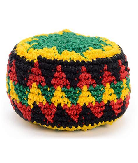 hacky sack guatemalart rasta crochet hacky sack