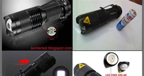 senter mini lalin type c68 mini q5 3mode zoom tarik batre aa 14500 senter led cree update