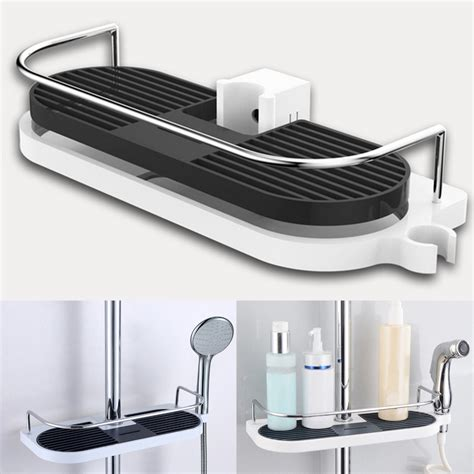 bathroom towel tray wall hanging bathroom pole shelf shower storage rack