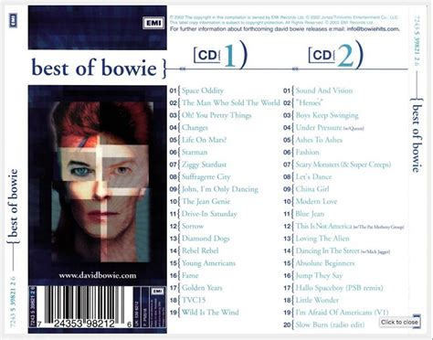 bowie best of covers box sk david bowie best of bowie 2002