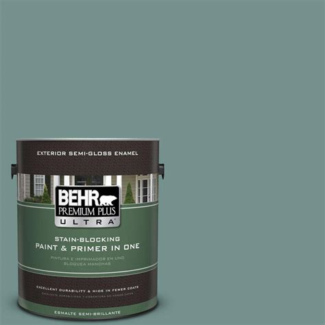 behr premium plus ultra 1 gal ppu12 3 dragonfly semi gloss enamel exterior paint 585301 the