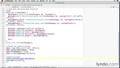 php tutorial lynda creating a read only web service in php