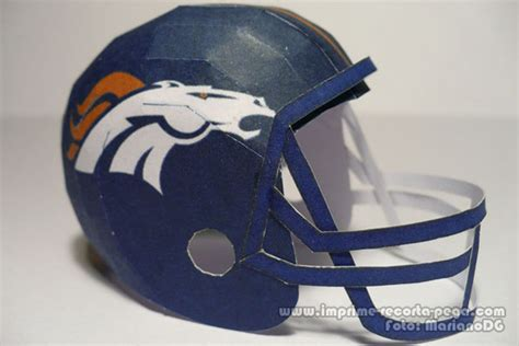 How To Make A Paper Football Helmet Step By Step - broncos nfl helmet papercraft by dil1880 on deviantart