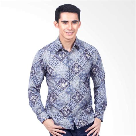 Batik Pria Slim Fit Lengan Panjang by Jual Parama Batik Slim Fit Lengan Panjang Kemeja