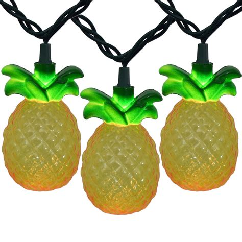 tropical string lights tropical pineapple string lights