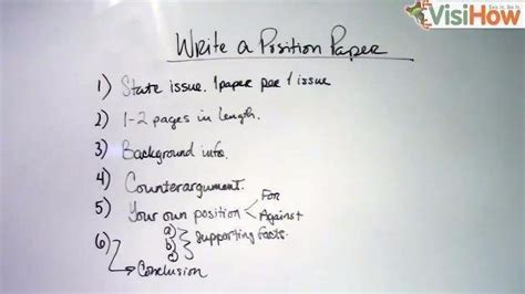 write a position paper visihow