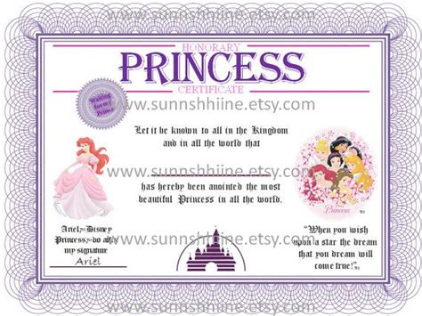 princess certificate template 45 best copii images on crafts bears and