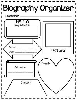 biography graphic organizer esl biography graphic organizer by veronica schmidt tpt