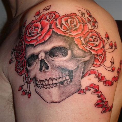 grateful dead tattoos 99 gnarly skull tattoos that will make you gawk
