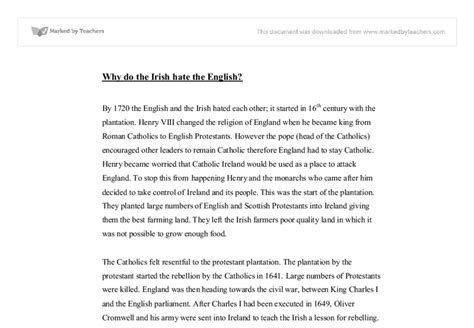 History Of Education In Ireland Essays by Why Do The The Notes Gcse History Marked By Teachers