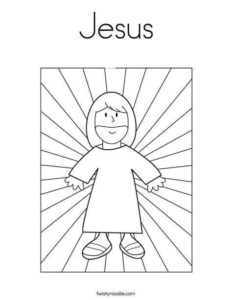 coloring page jesus of god jesus coloring page twisty noodle