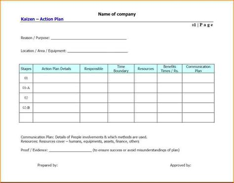 plan template 8 plan template free authorizationletters org