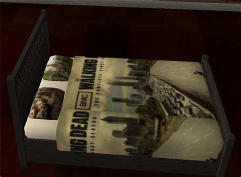 the walking dead bed set rougue s designs for the sims 2 the walking dead
