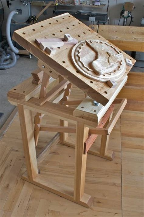 carving bench plans pdf diy plans for a wood carvers bench download small shop