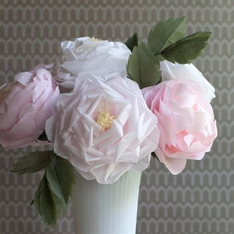 pattern for tissue paper flowers make these tissue roses for any summer event tutorial and