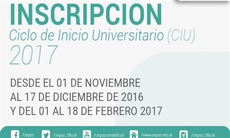 inscripcion ascenso de categoria 2016 la unpaz abre inscripci 211 n para el ingreso 2017