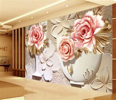 wallpaper flower for home custom 3d wallpaper murals 3d flower wallpaper relief