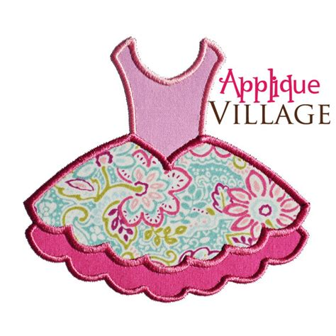 embroidery design etsy ballet tutu applique embroidery design by appliquevillage