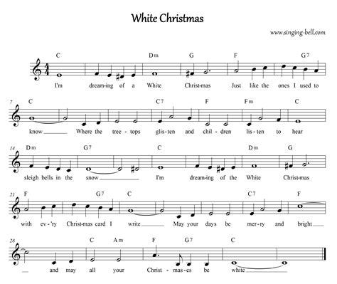 printable lyrics white christmas free christmas carols gt white christmas free mp3 audio