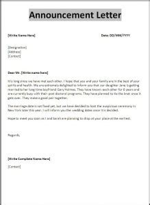Pay Raise Announcement Letter Free Announcement Letter Format Free Word S Templates