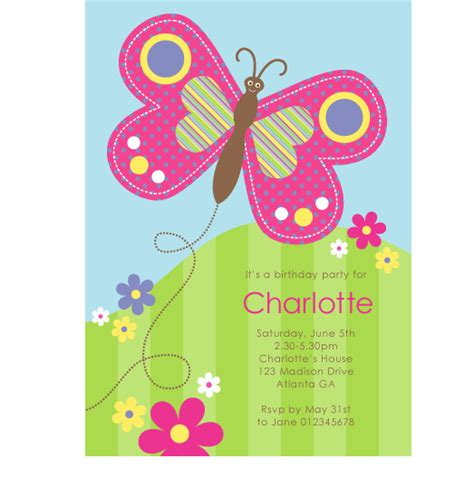 printable birthday invitations butterfly happy butterfly invitation paperspice