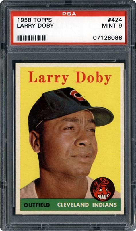 1959 topps brooks lawrence psa cardfacts 1958 topps larry doby psa cardfacts