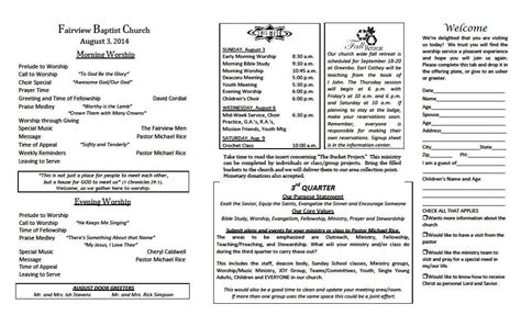 weekly bulletin template 25 images of church bulletin template tri fold gieday