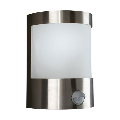 Outdoor Lighting With Sensors 17024 47 10 Vilnius 60w 230v Pir Sensor Aluminium Outdoor Wall Light