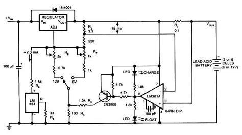 12 volt battery charger circuit diagram lead acid battery charger circuit diagram world