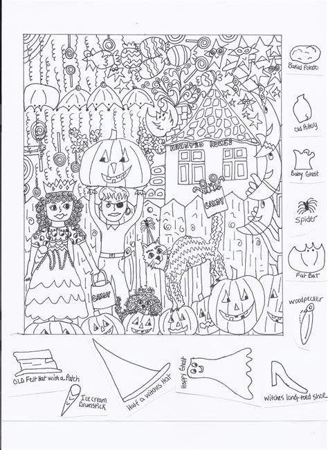 Free Coloring Pages Of Find The Hidden Objects Find Printable Coloring Pages