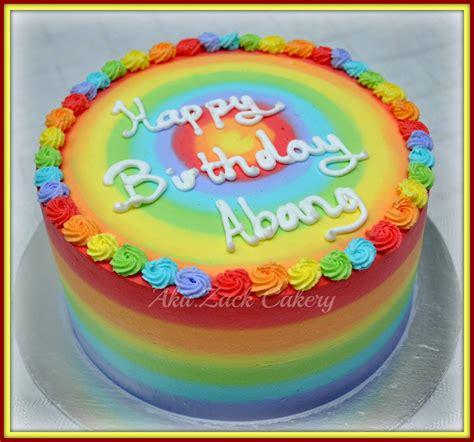 Kek Rainbow Cheese aku zack cakery gambar kek lagi