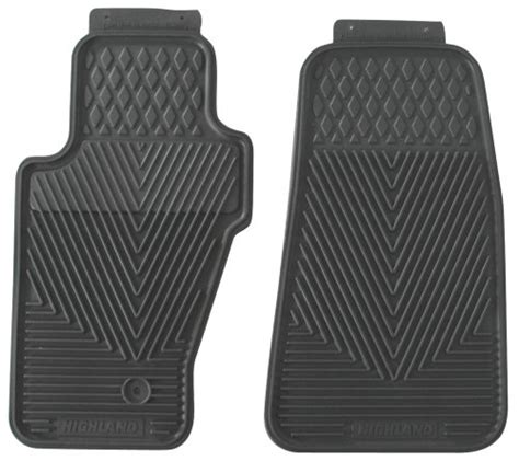 Highland All Weather Floor Mats by Highland 4503600 All Weather Gray Front Seat Floor Mat 2017