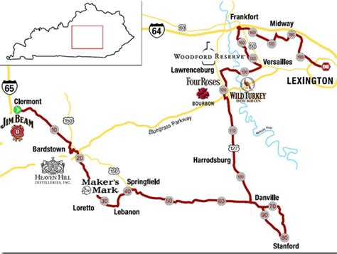 map kentucky bourbon trail events kentucky bourbon trail