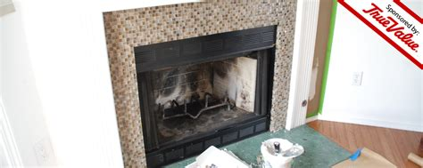 Green Marble Fireplace Makeover by True Value Diy Road Trip Fireplace Makeover Day 1 Diydiva