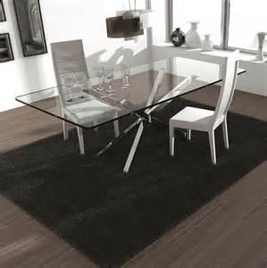 table tv en verre table en verre design pieds en croix sur cdc design