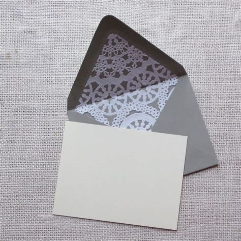 How To Make Paper Doily Envelopes - diy paper doily envelope liner wedding invitations and