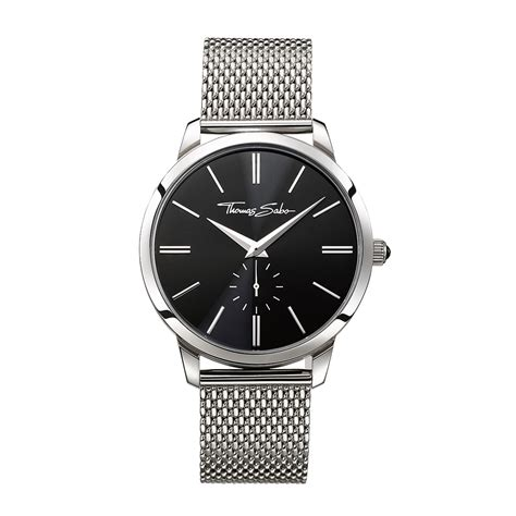 Thomas sabo Rebel At Heart Mesh Strap Watch in Metallic for Men   Lyst
