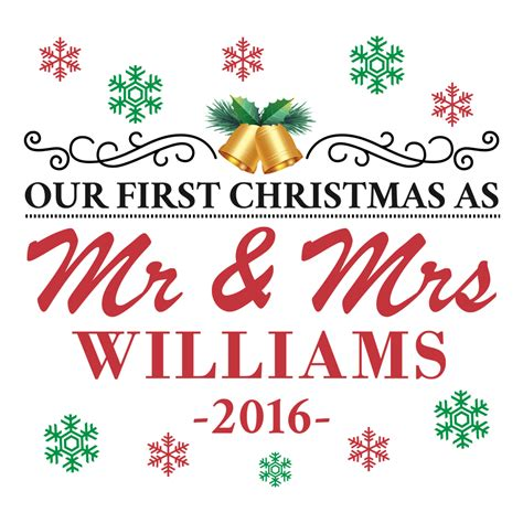 personalized our first christmas as mr and mrs throw