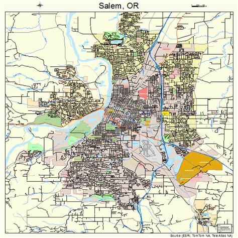 map of salem oregon salem oregon map 4164900