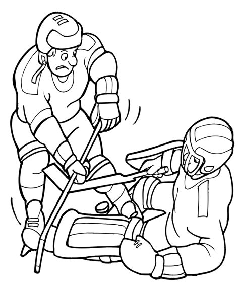 hockey goalie pads coloring pages coloring pages