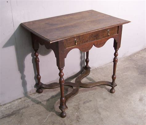 ori furniture cost english william and mary oak lowboy c1800 item 6367