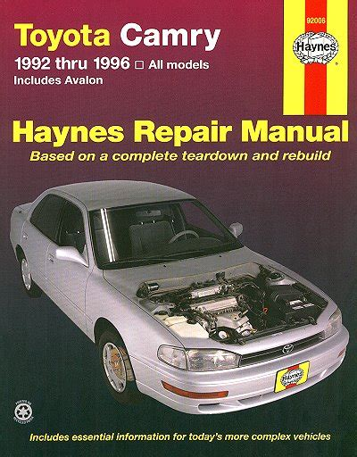 service manual hayes car manuals 1992 toyota supra head up display service manual hayes auto toyota camry toyota avalon repair manual 1992 1996 haynes