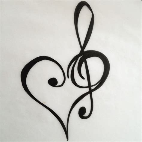 treble bass clef tattoo designs and treble clef design tattoos