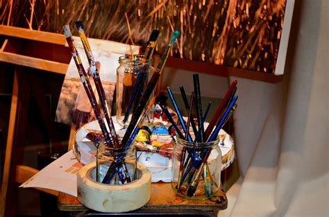 Painting Supplies by Free Photo Brushes Paint Supplies Painting Free