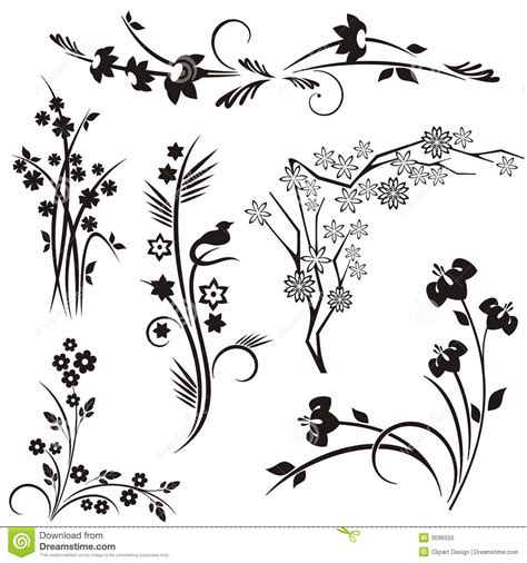 japanese designs japanese floral design series stock vector illustration