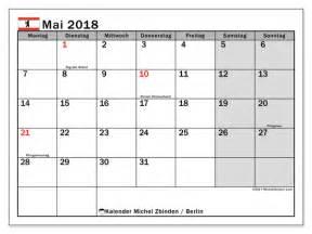Kalender 2018 Zum Ausdrucken Berlin Kalender Zum Ausdrucken Mai 2018 Feiertage In Berlin