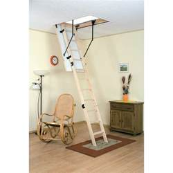 loft ladders with handrails drabest wooden loft ladder with handrail