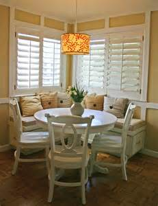 breakfast nook on storage benches corner