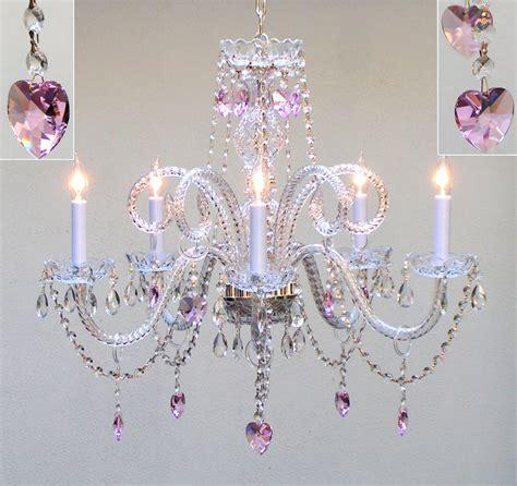 Pink Chandelier Table L Chandelier Lighting W Pink Hearts Free S H Ebay