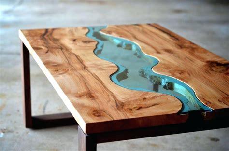 resin  wood coffee table step  step
